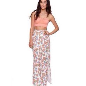 LA Hearts floral maxi skirt
